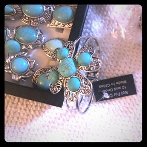 Turquoise silver Rings & Cuffs